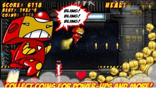 HIGHTECHHOLIC: Game Review – Superhero Jetpack Robot Game