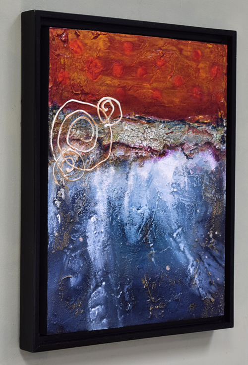 framed acrylic abstract textured painting