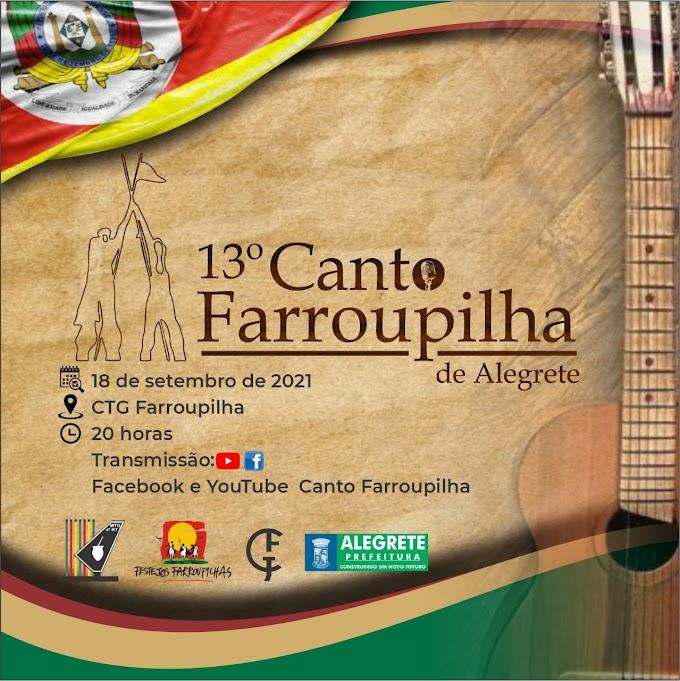 Confira as músicas classificadas para o 13º Canto Farroupilha e 7º Cantinho Farroupilha