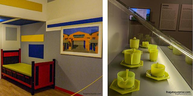 Dormitório e conjunto de chá e dà moda De Stijl