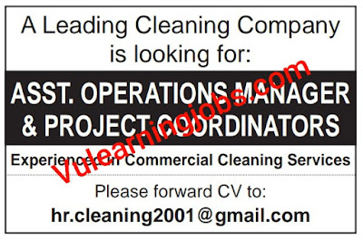 Cleaning Company Jobs 2020 In Qatar For Operation Manager, Project Coordinator Latest