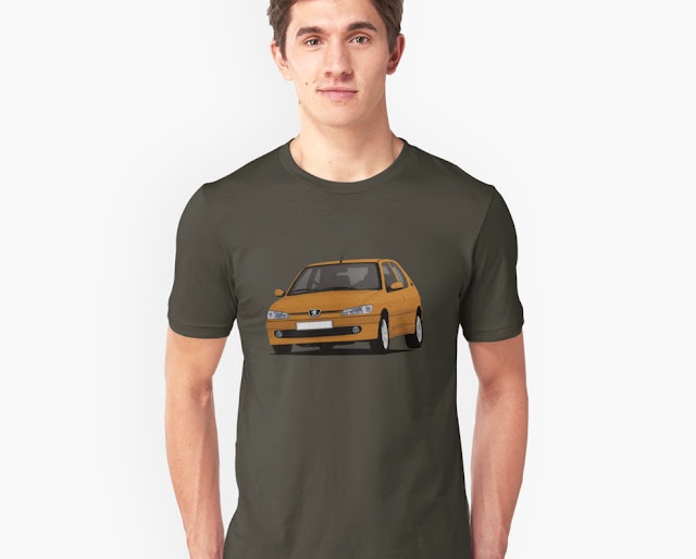 Orange Peugeot 306 GTi-6 young timer T-shirt