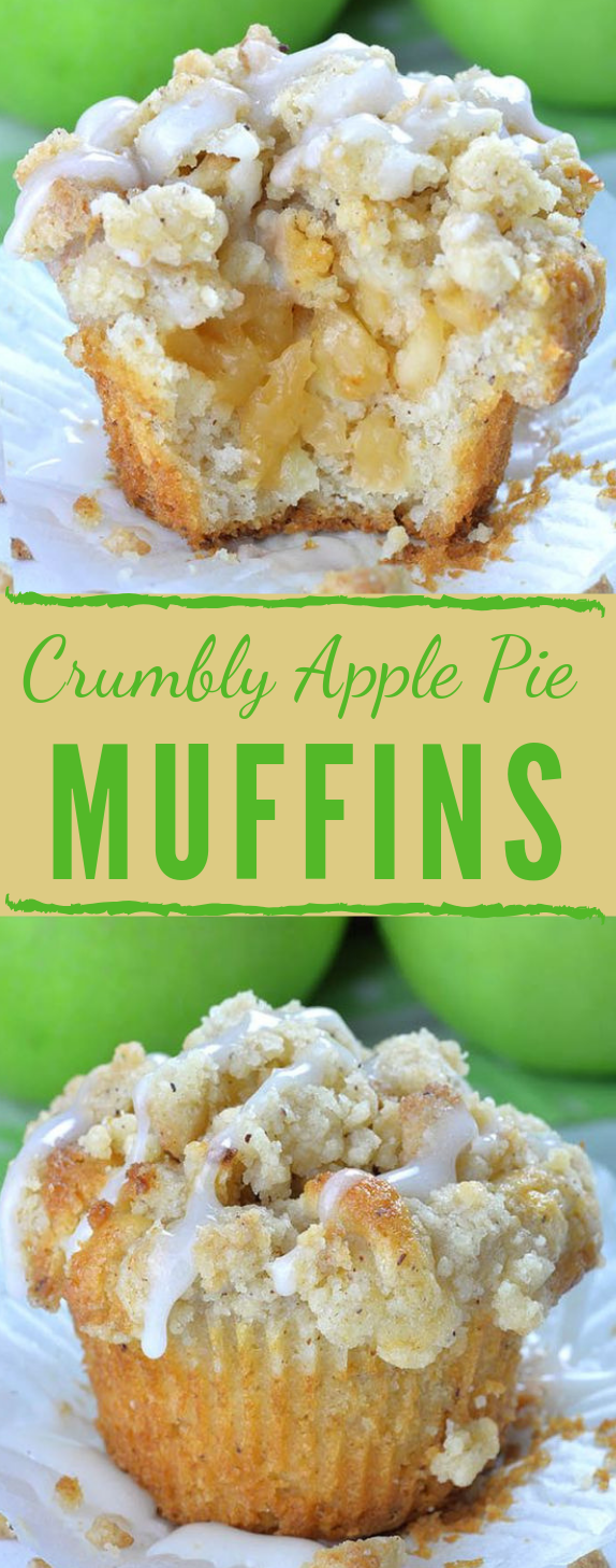 Apple Pie Muffins with Streusel Crumbs #cake #lasagna #dessert #maknyus #pie