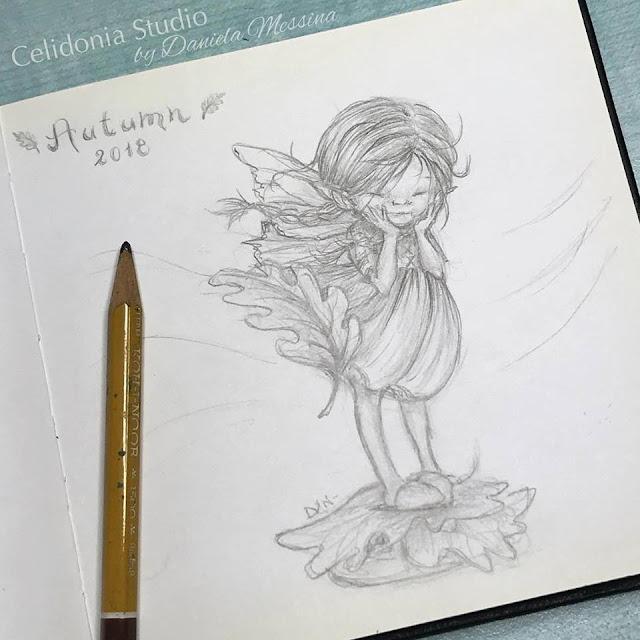 Autumn Fairy Disegno Iniziale