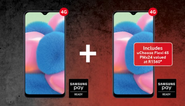 2 x Samsung Galaxy A30s on Smart XS+ with uChoose Flexi 65 – R449pm x 24