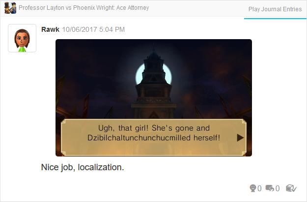 Professor Layton vs. Phoenix Wright Ace Attorney Dzibilchaltunchunchucmilled herself