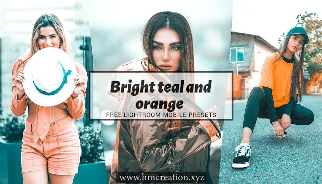 Bright teal and orange free lightroom mobile and desktop preset