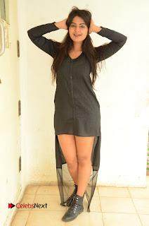 Actress Neha Deshpande Pictures in Black Short Dress at Bullet Movie Opening  0134.JPG