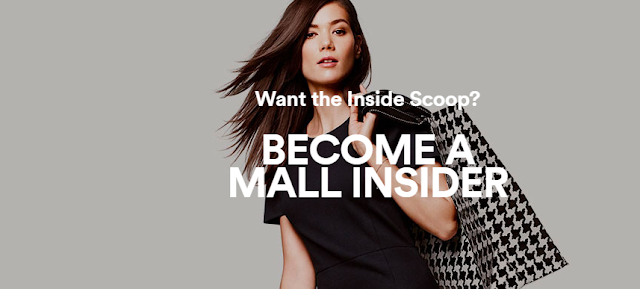 "Simon Malls wants you to become a ""Mall Insider"" for your chance to win a shopping spree worth ONE THOUSAND DOLLARS!"
