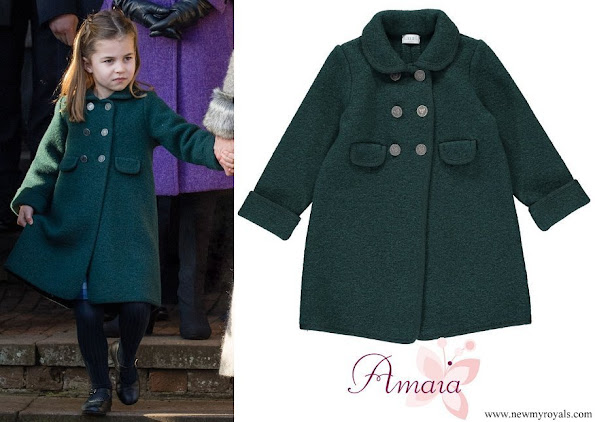 Princess Charlotte wore Amaia Razorbil Coat in Green