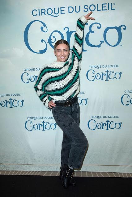 Inès Vandamme Clicks at Cirque Du Soleil Corteo Show Opening in Paris 12 Dec-2019