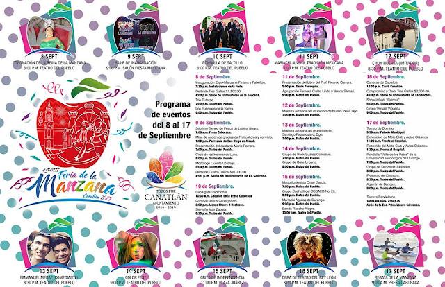 programa feria de la manzana canatlán 2017