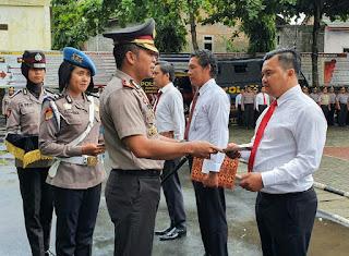 Berprestasi Ungkap Kasus, Sejumlah Anggota Polres Wonogiri Dapat Reward