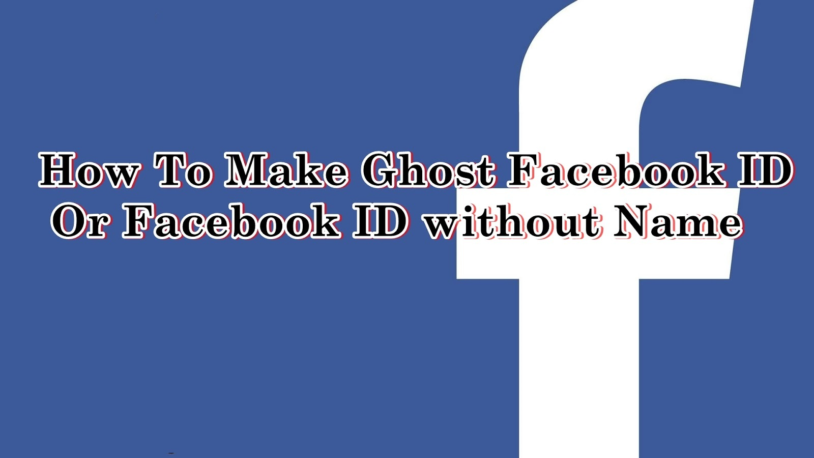 how to create facebook id without name