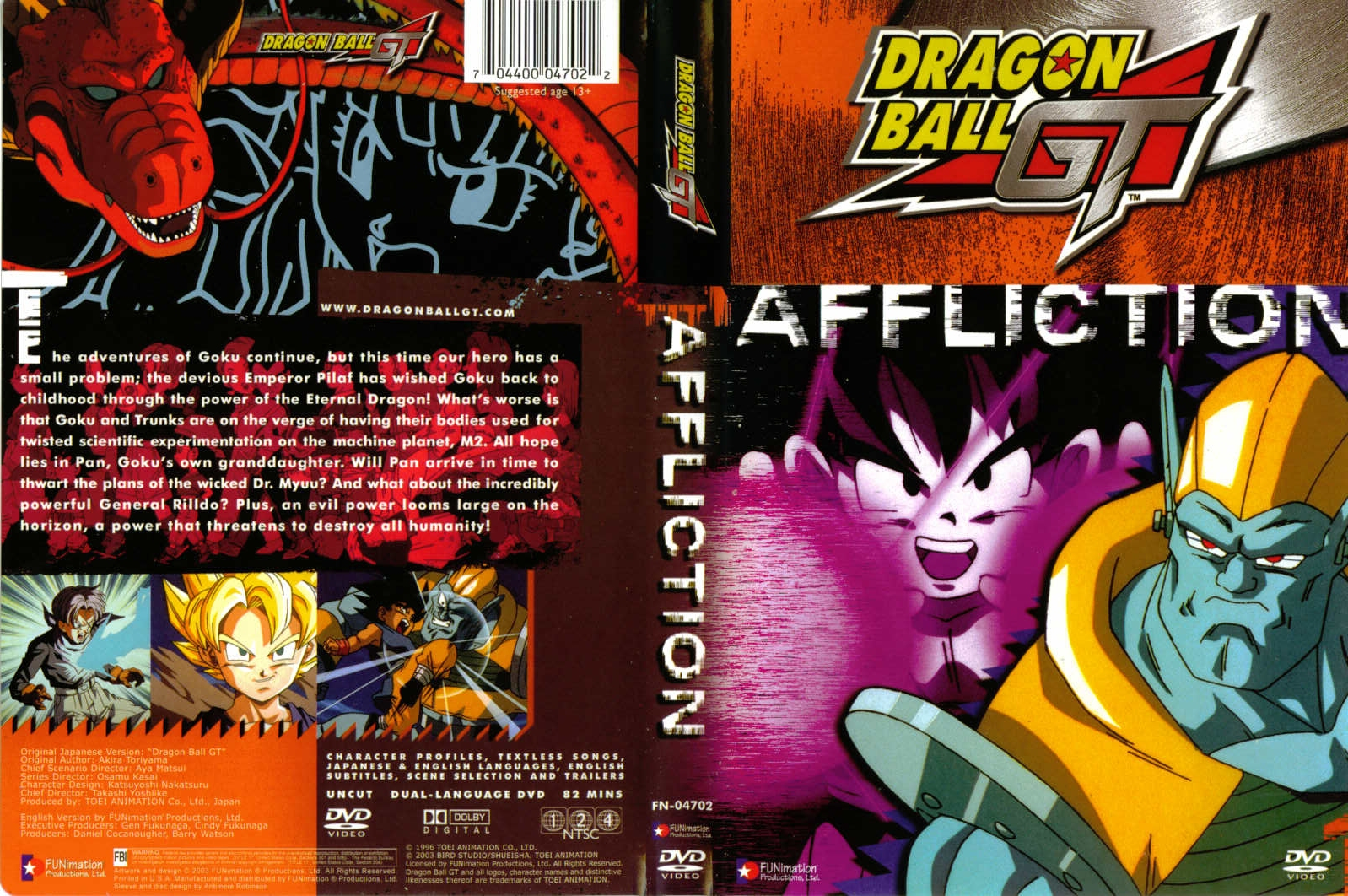 Capas DVD Dragon Ball GT D1 a D15
