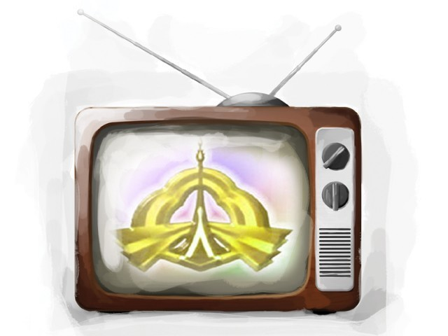 Picture showing PTV Channel and its relation with Pakistanis