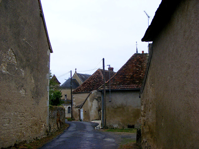 Narrow street, Ingrandes, Indre, France. Photo by Loire Valley Time Travel.
