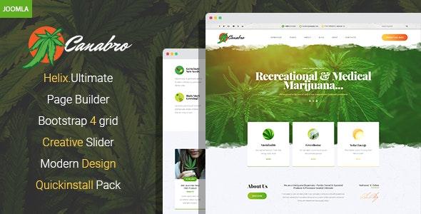 Canabro - Medical Marijuana Joomla Template