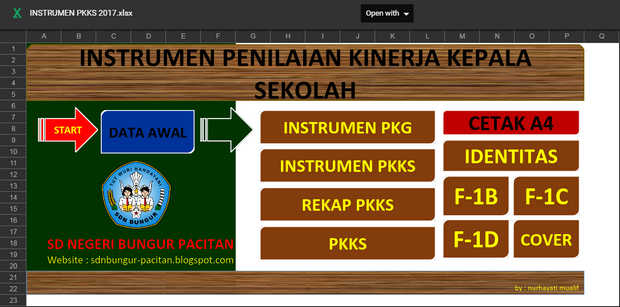 Aplikasi Instrumen PKKS 2017 Format Excel