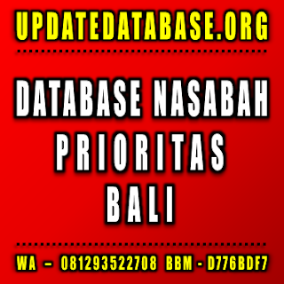 Jual Database Nasabah Bali