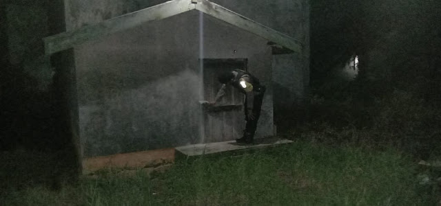 Personel Polsek Sebangau Kuala Lakukan Patroli Malam Di Pemukiman Warga