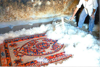 Felt making, one of the oldest and most enduringly handicrafts of Iran, is mostly practiced by nomadic people