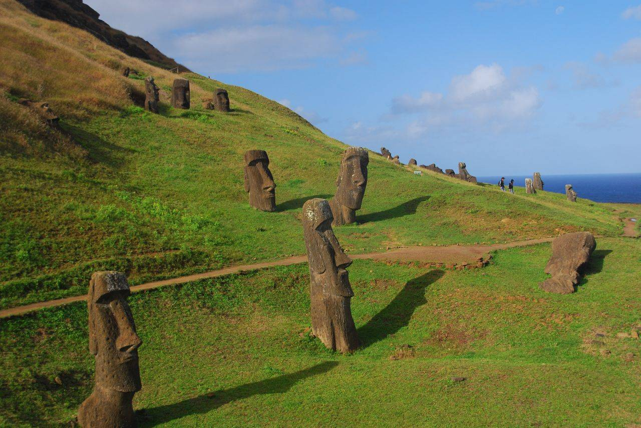 meet the moai of easter island