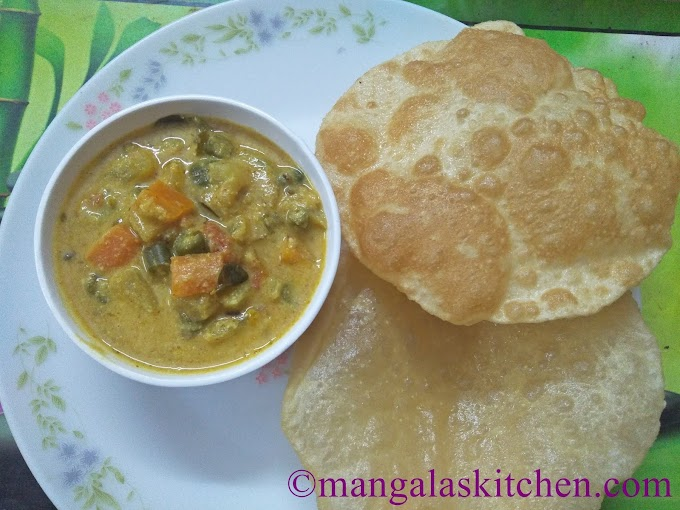 Soft Fluffy Rava Poori Recipe | Sooji Poori