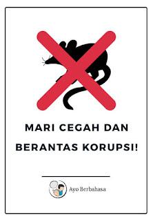 Poster berantas korupsi