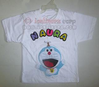 Kaos / Baju Flanel Anak Karakter Kartun Doraemon
