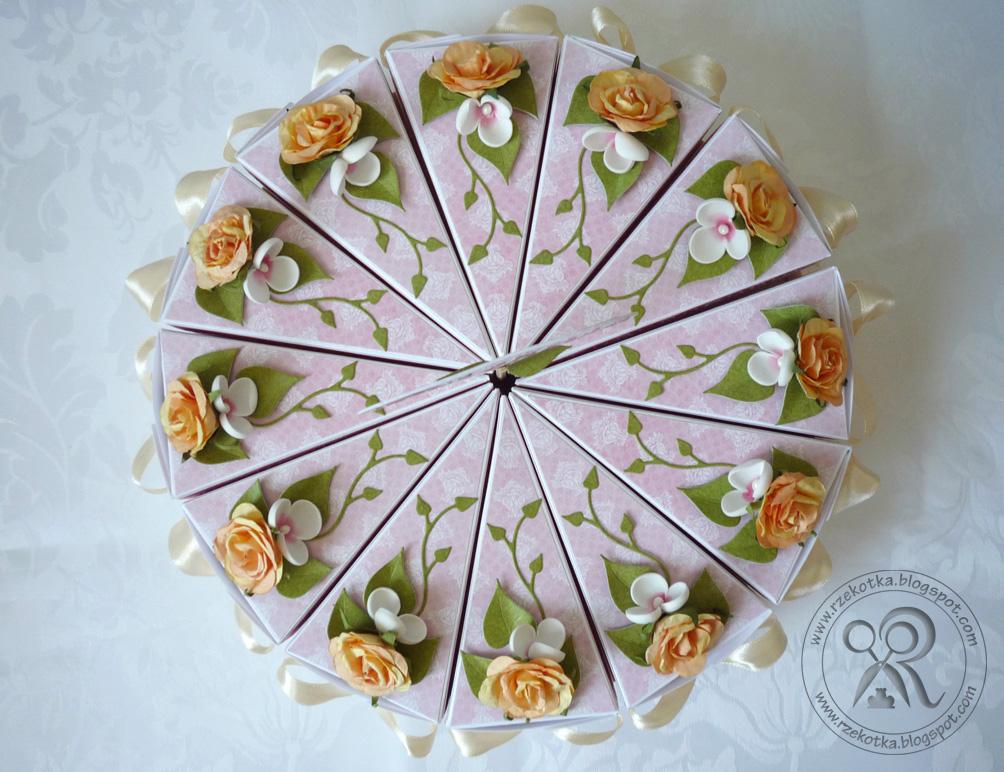 tort wykonany z papieru 12 kawałków