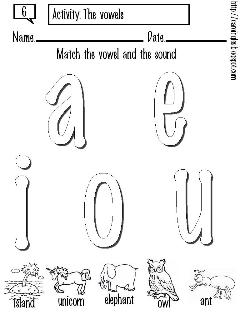 Coloring Pages For Vowels : Long vowel coloring activity pages