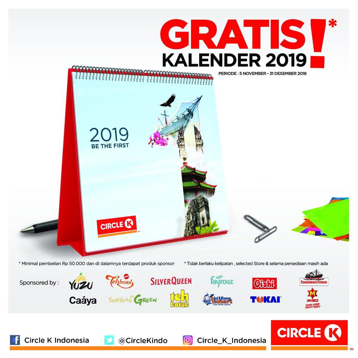 CirckleK - Promo Gratis Kalender 2019 Min Belanja 50K