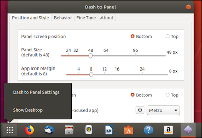 Dash to Panel extension