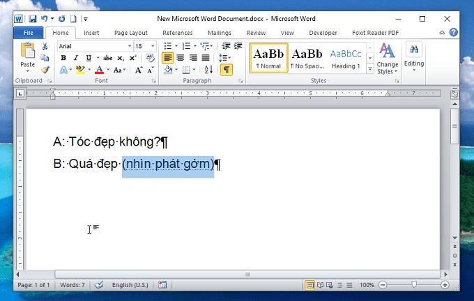 Chỉ hiện một đoạn van bản ẩn -Ẩn và bỏ ẩn văn bản trong Word