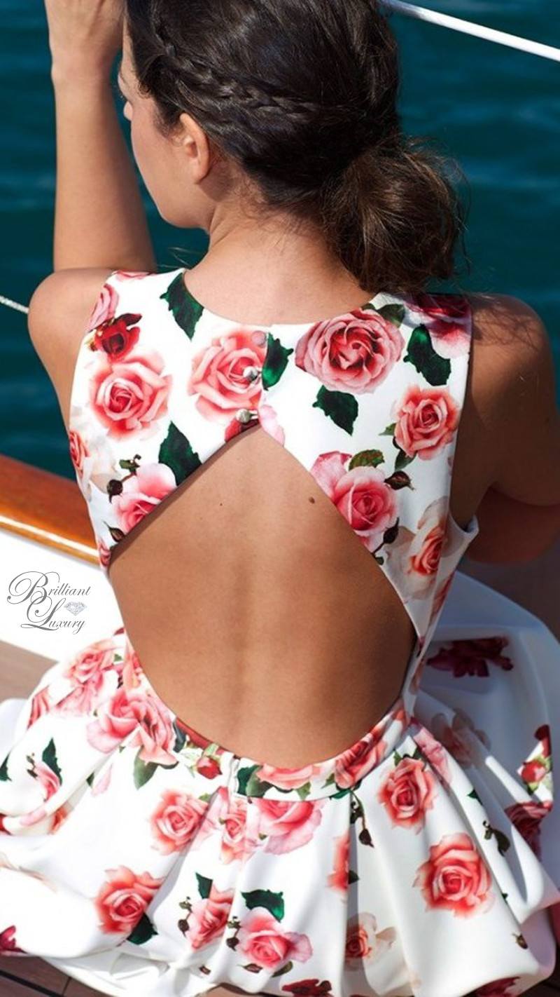 Brilliant Luxury ♦ Silvia Navarro floral Aurora dress