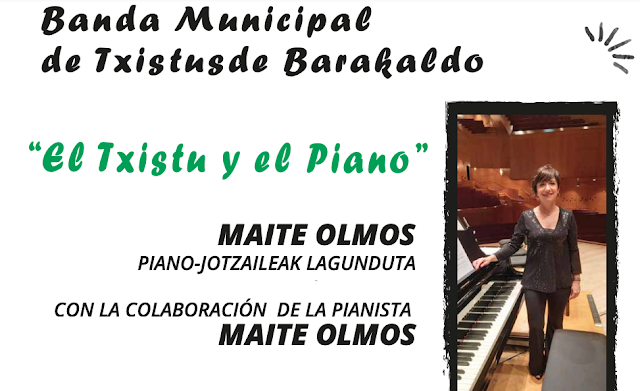 Los chistularis municipales actúan con la pianista Maite Olmos en la casa de cultura de San Vicente