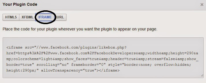 Add Facebook Like Box in your blog