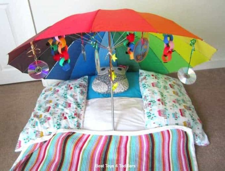 activities for babies - under the umbrella sensory play