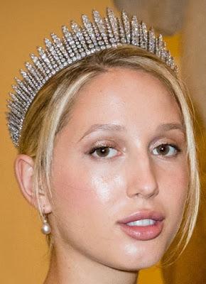 diamond fringe tiara marie chantal miller crown princess pavlos greece olympia