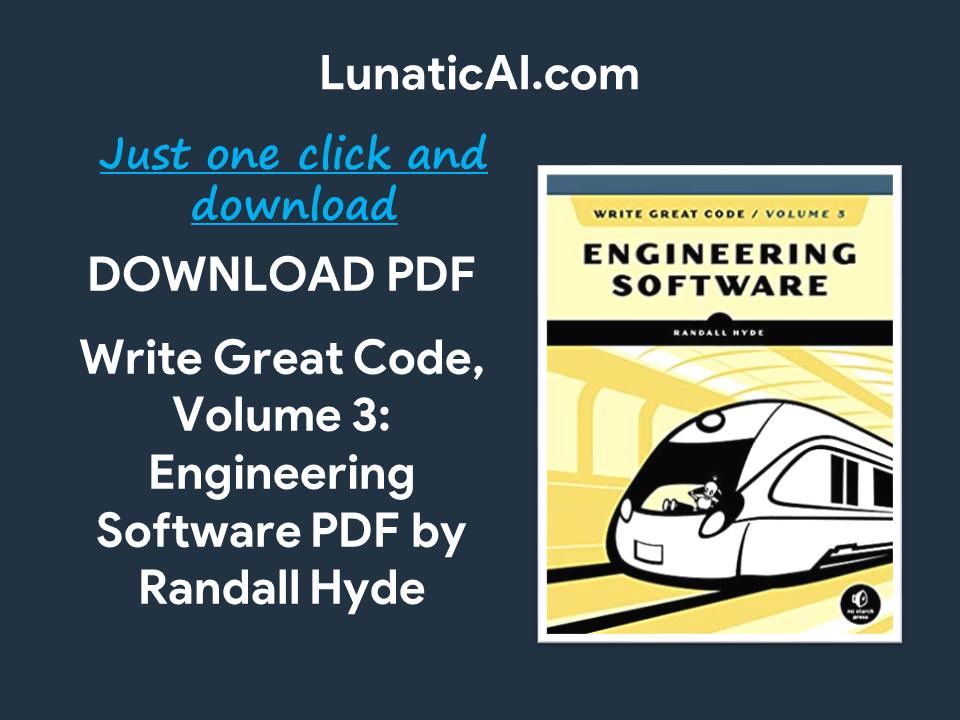 Write Great Code Volume 3 PDF Github