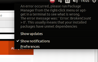 How to fix an error occurred please run package manager ubuntu