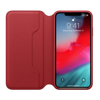 Husa Leather Folio iPhone XS Max Red