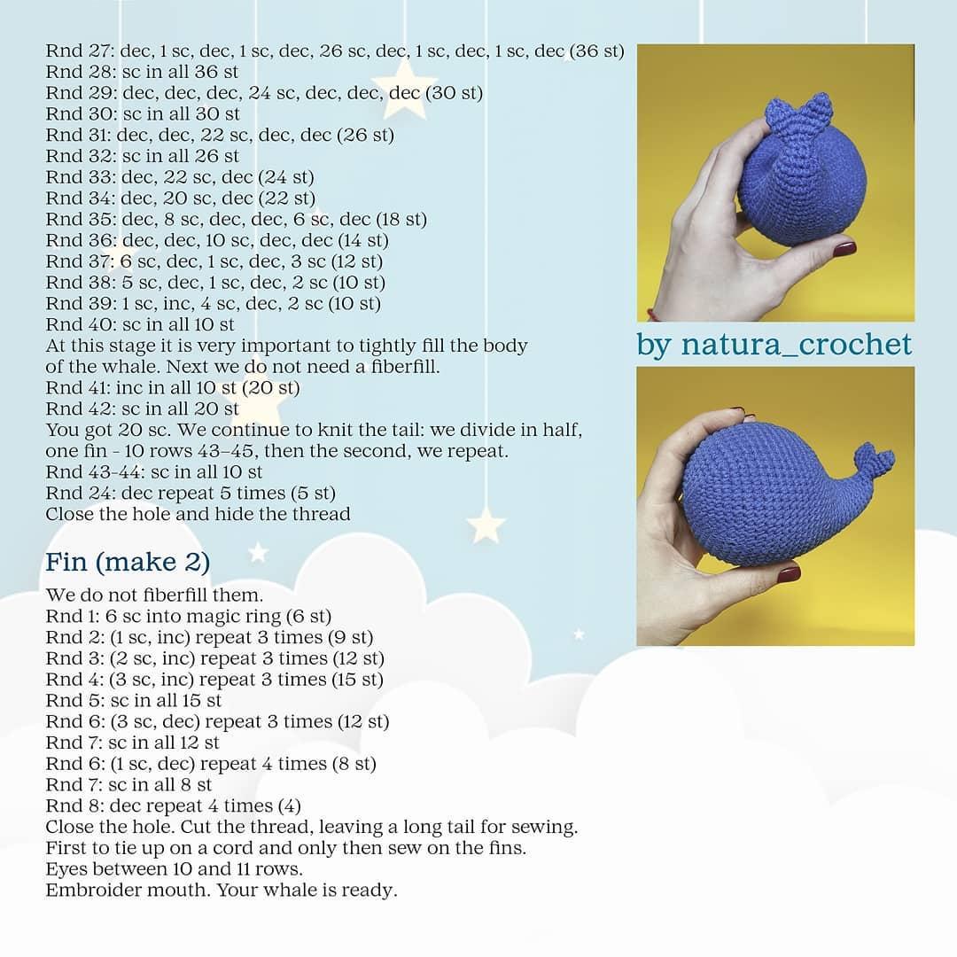 Whale Amigurumi Free Crochet Pattern • Spin a Yarn Crochet | 1080x1080