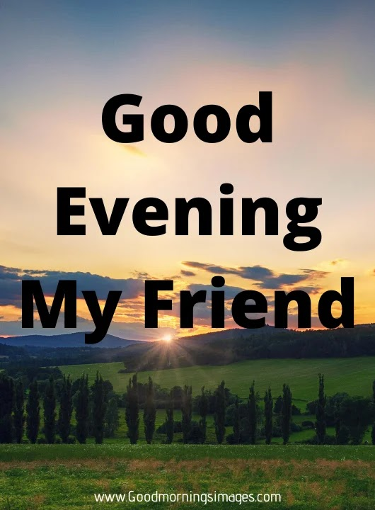 Good evening images in english