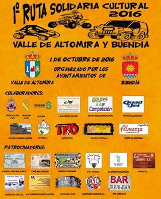 PRIMERA RUTA SOLIDARIA CULTURAL, VALLE DE ALTOMIRA Y BUENDIA