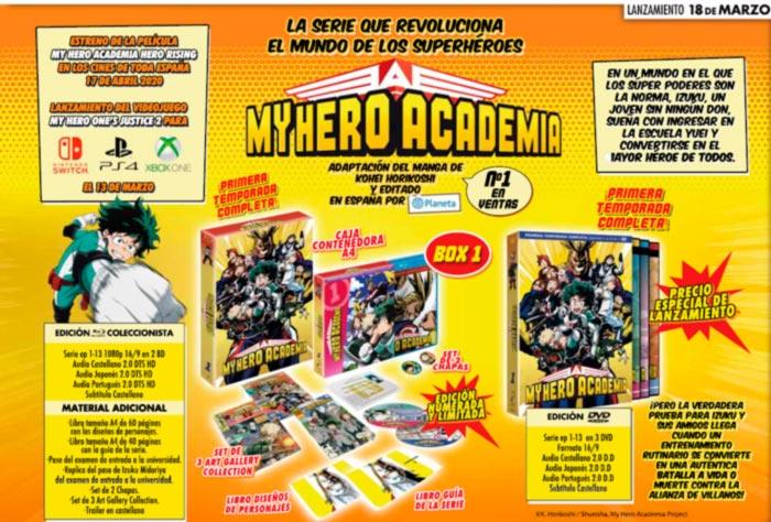My Hero Academia anime (Temporada 1) - Selecta Visión