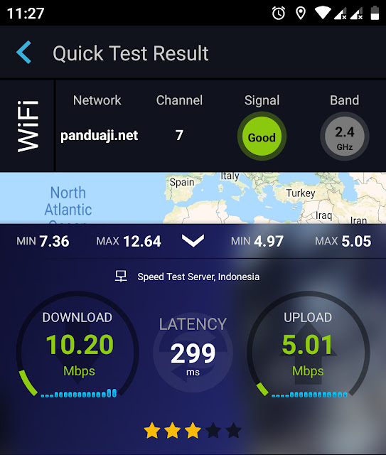 Speed Test di Rumah
