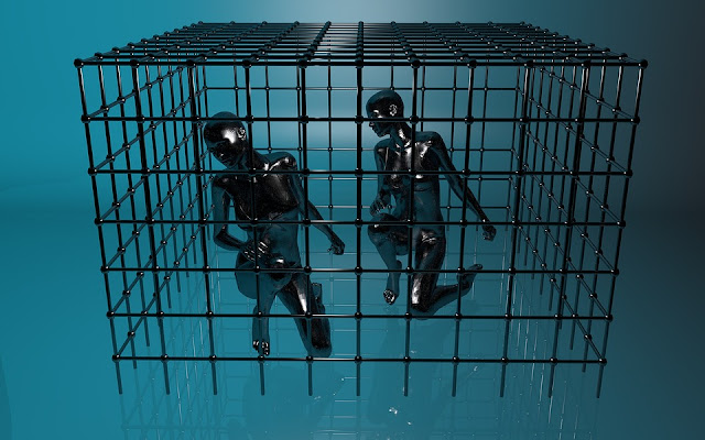 Caged thinking process