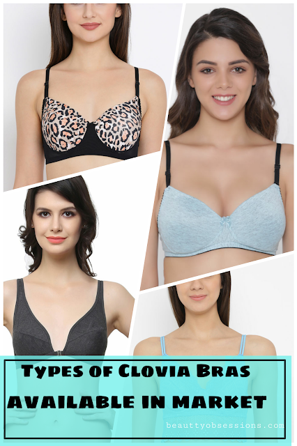 Types of Clovia Bras available in market